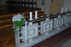 žvakutės prie altoriaus